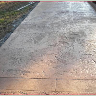 Monoblocco di calcestruzzo colorato per marciapiedi