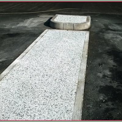 Pavimento marciapiede in sasso lavato drenante a rapida asciugatura
