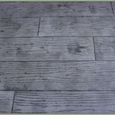 Effetto assi di legno slavato con monoblocco di cemento senza fughe