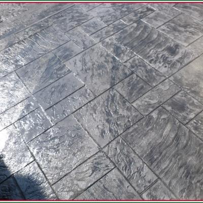 Unico blocco di cemento per pavimentazioni esterne senza fughe