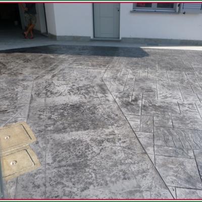 Cemento stampato a Piacenza per pavimentazioni esterne resistente al tempo
