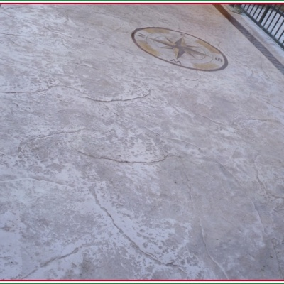 Cemento con logo personalizzato in tanti colori elegante e resistente al gelo