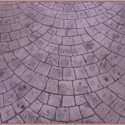 Dettaglio cemento stampato per sottopassaggio a Cremona