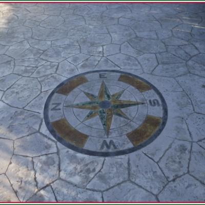 Disegno personalizzato su cemento stampato a Piacenza