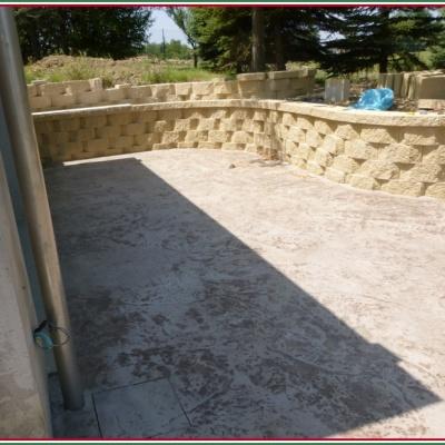 Cortile abitazione in cemento stampato per esterni