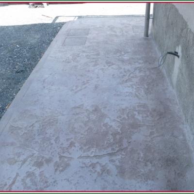 Marciapiede per esterni in cemento stampato