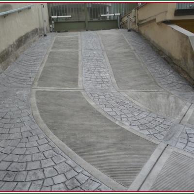 Pavimentazione in cemento stampato per garage resistente al freddo