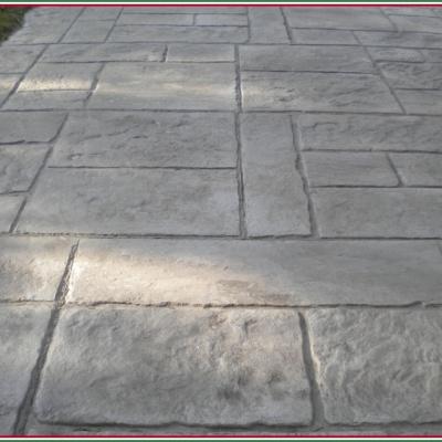 Monoblocco di calcestruzzo effetto pietra rettangolare