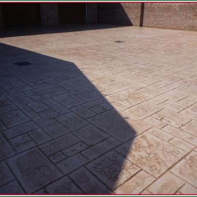 Cemento stampato effetto mattone rettangolare anti erbaccia