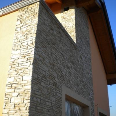 Rivestimenti abitazione in intonaco stampato simile a pietra a Lodi