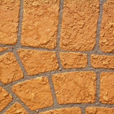 Cemento spruzzato con effetto simile a mattone in cotto